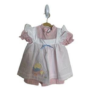 Vintage NANA'S PET  Size 2 Dress  Bonnet  2 Piece